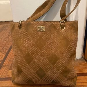 Chanel brown suede tote